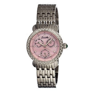 Bertha Women's 'Daniella' Stainless Steel Pink Dial Watch