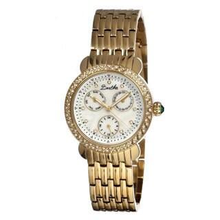 Bertha Women's 'Daniella' Crystal Accent Gold-Tone Watch