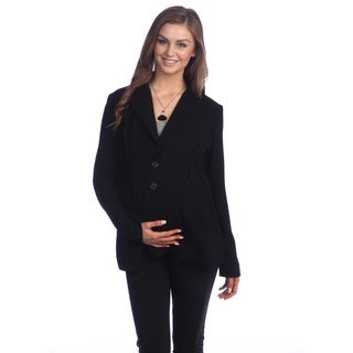Ashley Nicole Maternity Womens' Black 2-button Career Jacket