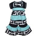 AnnLoren 2-piece Blue Geometric Rumba Doll Outfit