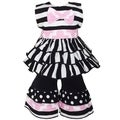 AnnLoren 2-piece Stripes Rumba Doll Outfit