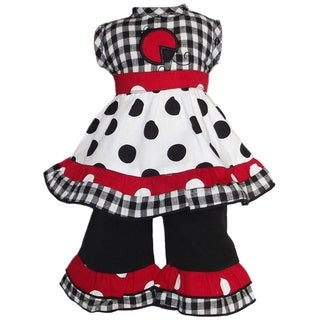 AnnLoren 2-piece Polka Dots/ Gingham Lady Bug Doll Outfit