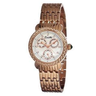 Bertha Women's 'Daniella' Rose Gold Crystal Accent Watch