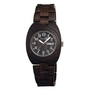 Earth Sede02 Dark Brown Hilum Wood 41mm Watch