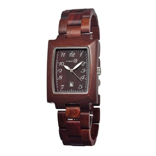 Earth Sego03 Brown Cork Wood 34mm Watch