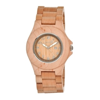 Earth Men's 'Xylem' Khaki Wood 41mm Watch