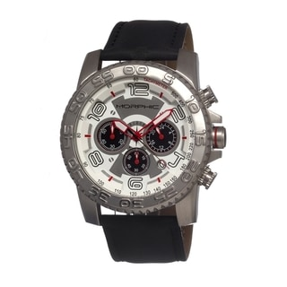 Morphic Men's Black Leather Strap Watch