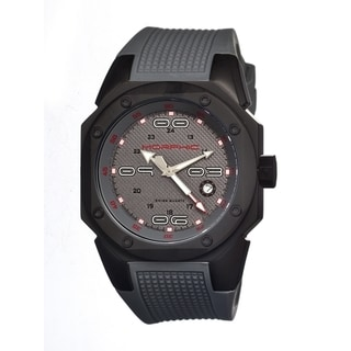 Morphic Men's Grey Strap Analog Quartz Watch