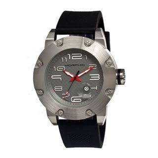 Morphic Men's 'M8 Series' Black Stainless Steel Analog Watch