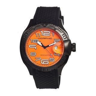 Morphic Men's 'M9 Series' Orange Dial Quartz Watch