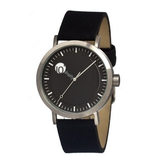 Simplify '0201 The 200' Black Leather Strap Watch