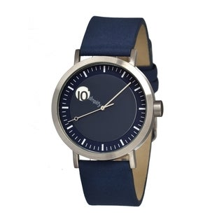 Simplify '0207 The 200' Blue Leather Strap Watch