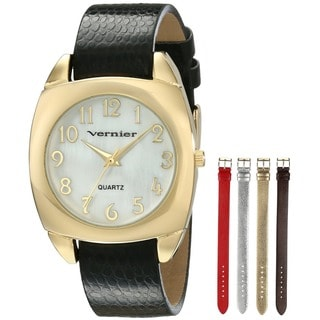 Women's Goldtone Case Interchangeable Metallic Strap Watch