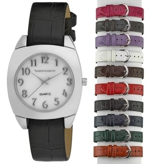 Vernier Women's 10-strap Interchangeable Set Mother of Pearl Face Watch