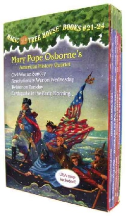 Mary Pope Osborne's American History Quartet: Civil War on Sunday / Revolutionary War on Wednesday / Twister on Tuesday / Ear...