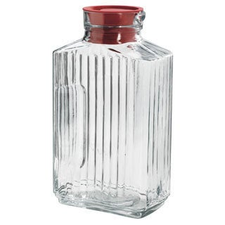 Anchor Hocking 2-quart Clear Glass Bistro Pitcher with Red Stopper