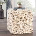 Modern Grey Cube Shape Wool Pouf