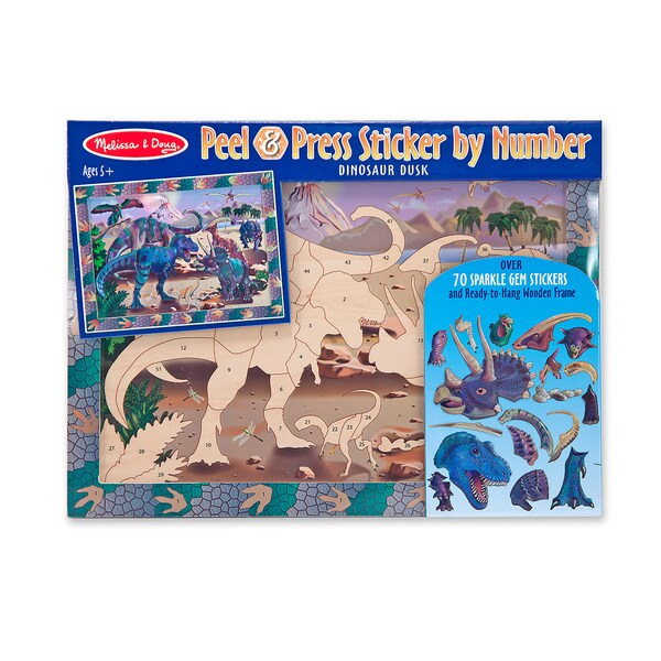 Melissa & Doug Dinosaur Dusk Peel & Press Sticker by Number