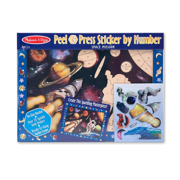 Melissa & Doug Space Mission Peel & Press Sticker by Number