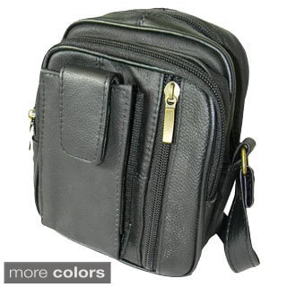Hollywood Tag Leather Anti-theft Utility Pouch