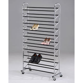 Chrome Finish 10-tier Shoe Storage Rack