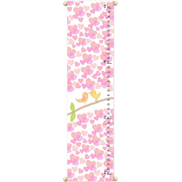Birds and Hearts Growth Chart