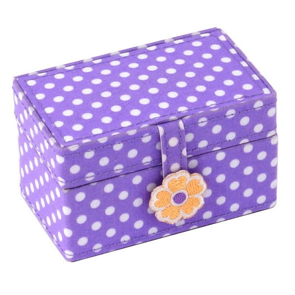 WOLF Children's Purple Petite Mini Jewelry Box
