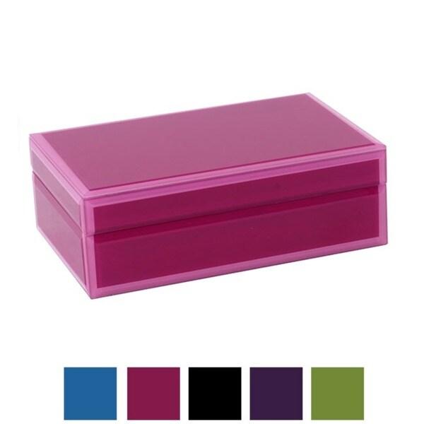WOLF Royal Small Glass Jewelry Box