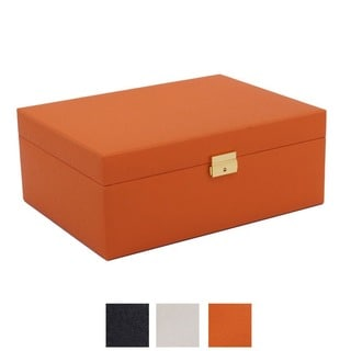 WOLF Large Pop Color Saffiano Jewelry Box