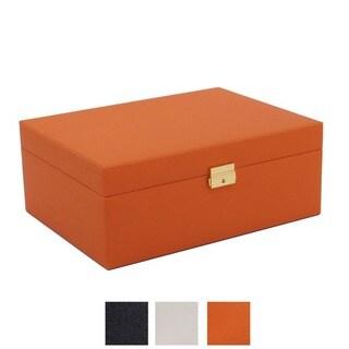 WOLF Brighton Medium Saffiano Jewelry Box