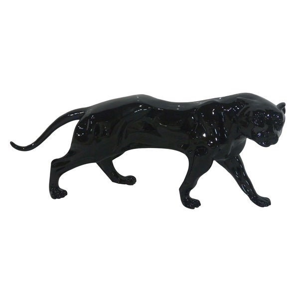 Black 19-inch Panther Statue Bookend