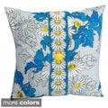 Hand-printed 15-inch Daisy Accent Pillow