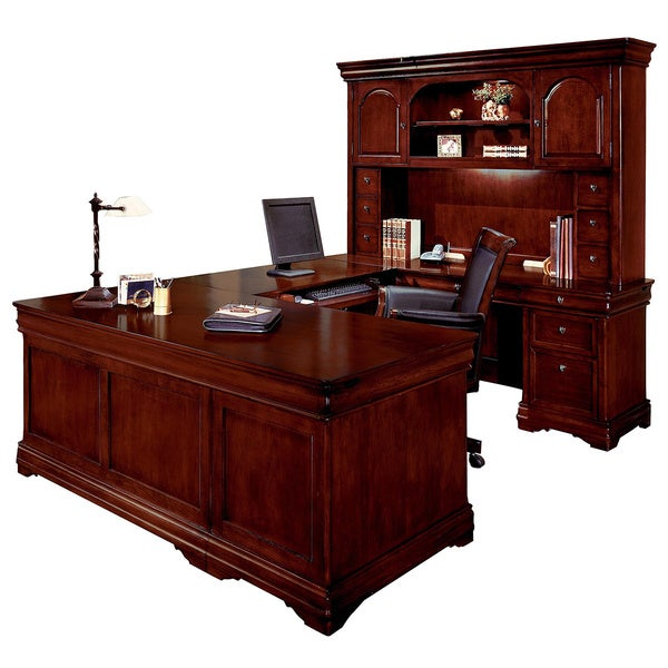 Dmi Furniture Rue De Lyon Executive Overhead Hutch U Desk