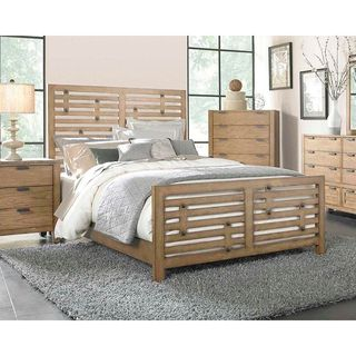 Broyhill 'Ember Grove' King-size Weathered Khaki Panel Bed