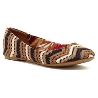 Nichole Simpson Women's Brown Crocheted Ballet Flats