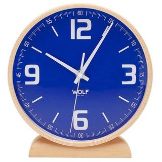 WOLF 8.5-inch Round Mantel Clock