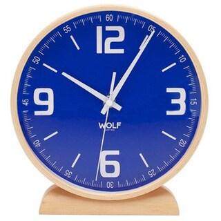 """WOLF 8"""" Round Mantel Clock"""