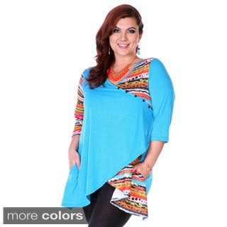 Women's Plus Size Mixed Print Tunic