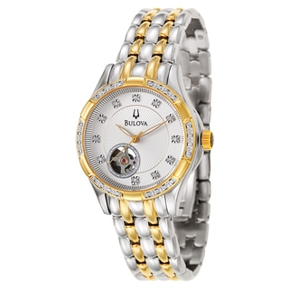 Bulova Women's 'BVA Series' Stainless Steel and Yellow Gold-Plated Mechanical Automatic Watch