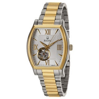 Bulova Men's 'BVA Series' Stainless Steel and Yellow Gold-Plated Japanese Mechanical Automatic Watch