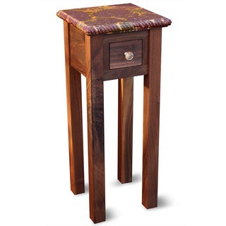 Gold Lava Small Accent Table
