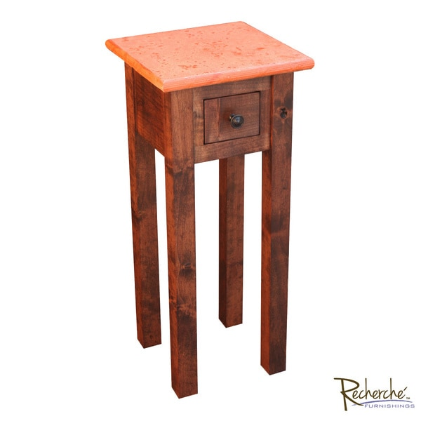 Autumn Leaf Small Wooden Accent Table