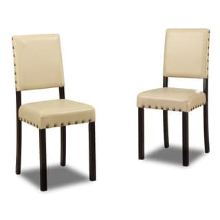 Baxton Studio Noah Modern Faux Leather Dining Chairs (Set of 4)