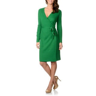 Lennie for Nina Leonard Women's Sweater Knit Wrap Dress