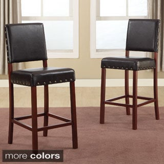 Baxton Studio Noah Modern Faux Leather Counter Stools (Set of 2)