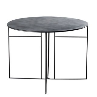 Ennis Handmade Black Metal Dining Table (India)