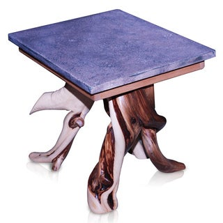 Natural Wildwood and Denim End Table