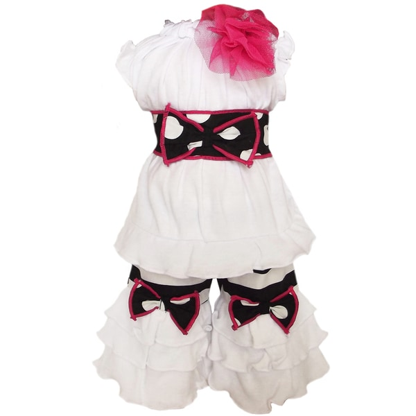 AnnLoren 2-piece Black/ White Doll Outfit