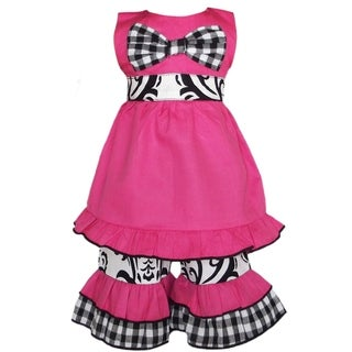 AnnLoren 2-piece Damask/ Gingham Doll Outfit