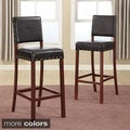 Baxton Studio Noah Modern Faux Leather Bar Stools (Set of 2)